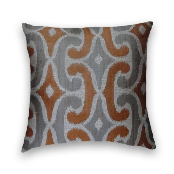 orange grey decorative pillow coverabstract throw pillow. Black Bedroom Furniture Sets. Home Design Ideas
