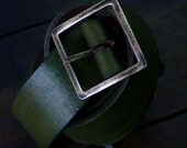"old greenBELT 38mm model "" GAIBÉU""  brass buckle and rivets,  maximum waist 94cm"