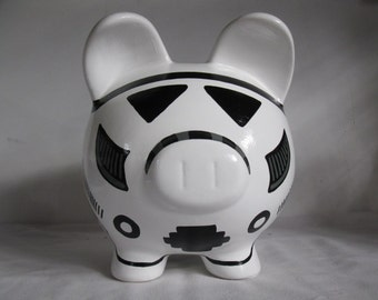 Personalized Piggy Bank, Large, Star Wars, Storm Trooper -  MADE TO ORDER