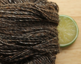 Triple Chocolate - Handspun Alpaca Yarn Silk Sport Weight