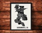 Sacramento Map Art Print | Sacramento Print | Sacramento Art Print | Sacramento Poster | Sacramento Gift | Wall Art