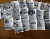 Photo Vintage Lot of 19 Photographs of Family at the Beach 1940s