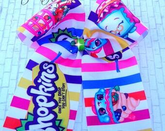 SALE Shopkins Cheer bow style. Handmade