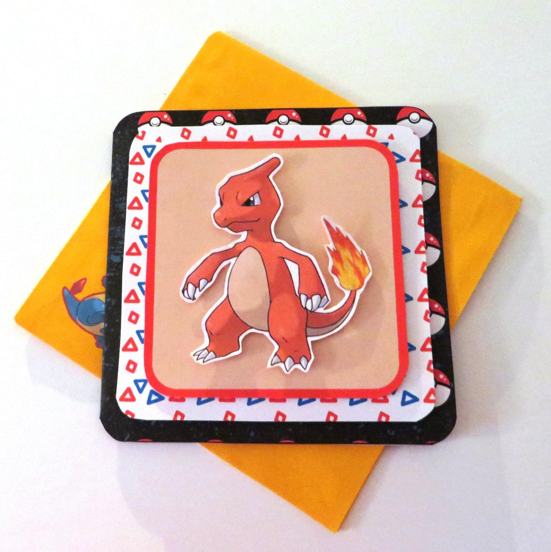 Birthday Cards Pokemon: Handmade Pokemon Birthday Card & Envelope