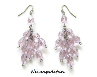 Pink Ice Chandelier Earrings - Ready to Ship
