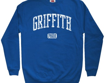 Griffith Park LA Sweatshirt - Men S M L XL 2x 3x - Crewneck, Gift, Los Angeles, Griffith Observatory, Los Feliz, California - 4 Colors