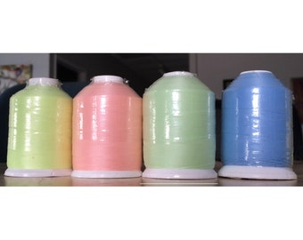 Premium Quality #40 Glow In The Dark Embroidery Thread - Polyester - 1000 Meters