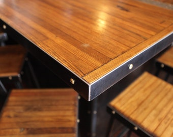 Restaurant Table, Reclaimed Wood Table, Cafe Table, Bowling Alley Top