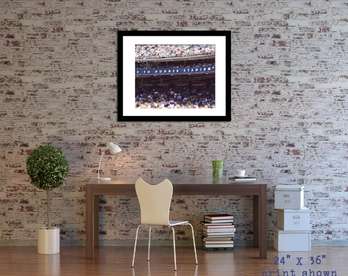 Dodger Stadium Photograph, Gift idea for Baseball Fan - 5 sizes available