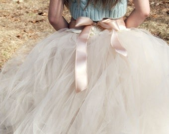 Begonia Tulle Flower Girl Tutu Skirt
