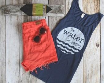 Lake Life Tank,  get outdoors nature shirt screen printed screen printed shirt tank top unisex tank top Water Life apparel summer apparel