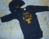 Unique Baby Onsie and Beanie Set - Trophy Baby with Buck - Baby Gift Idea