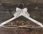 Distressed Bridal Hanger, Rustic Wedding Hanger, Bride Hanger, Wedding Hanger, Rustic Wedding, Shabby Chic Wedding, Fall Wedd