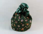 SALE Owl Project Bag. Small Drawstring bag ideal for knitting or crochet projects