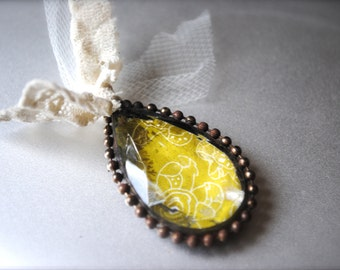 Soldered Crystal pendant