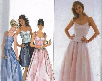 Prom Dress Pattern, Bridesmaid Dress Pattern, Wedding Dress Pattern, Bustier Top and Skirt Pattern, Size 6, 8, 10,  Simplicity 8499