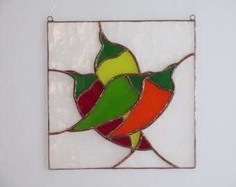 Stained Glass Pepper Panel - Price Includes Shipping