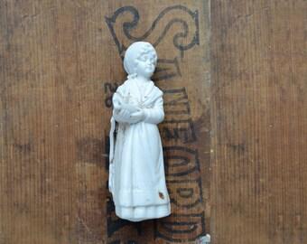 1 damaged antique german bisque girl, doll fragments, broken pottery, from Elizabeth Rosen