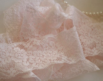 2 yards light blush stretch lace, elastic lace trim, hot selling 2016