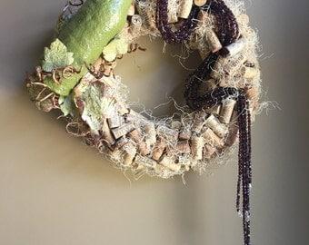 Pouring Wine/Cork Wreath