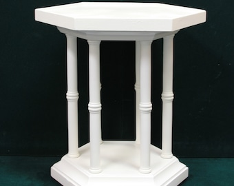 White Small Octagon Side/ End Table