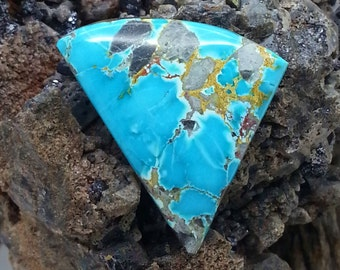 Candelaria Turquoise Natural Untreated Cabochon