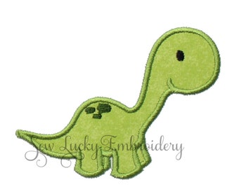 Dino Embroidered Patch, Sew or Iron on