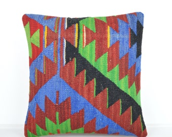 Kilim pillow, Kilim Pillow Cover k527, Turkish Pillow, Kilim Cushions, Bohemian Decor, Moroccan Pillow,  Bohemian Pillow, Turkish Kilim