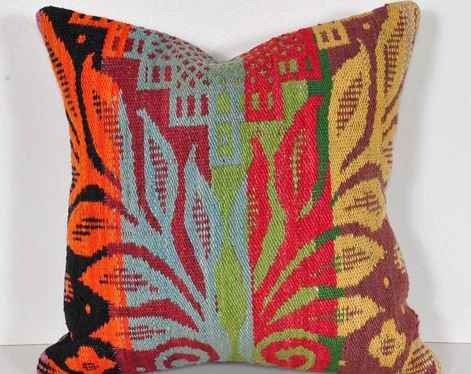 Kilim pillow cover, skp2-74, Kilim Pillow, Turkish Pillow, Kilim Cushions, Kilim, Moroccan Pillow, Bohemian Pillow, Turkish Kilim