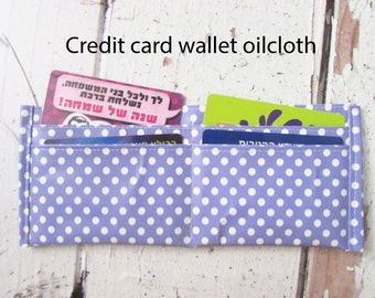 Mini Oilcloth wallet Credit card wallet oilcloth Washable wallet Cards cases