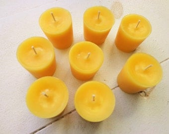 100% Beeswax Votive Candles Set of 30