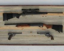 Gun Rack,Rustic,Wood,Hunting,Gun Shelf, Gift For Him