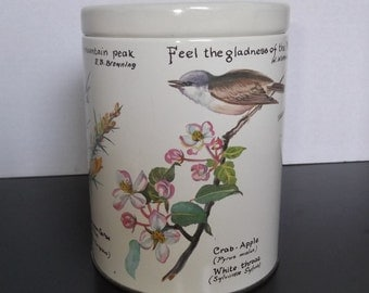Vintage Collectible Tin with A Nature Theme, 1977 Made In England