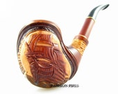 """New Tobacco Pipe/Pipes Ship Wooden pipe """"Caravella"""" Smoking Pipe/Pipes Exclusive Style Long Smoking Pipe & FREE GIFT"""