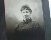 Antique Cabinet Card Photograph 1800s Victorian Woman 7.5 x 6 Inches