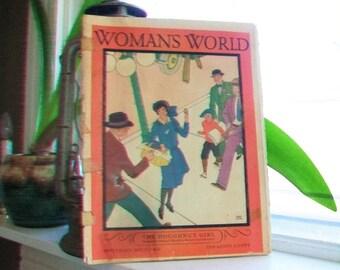 1928 Woman's World Magazine Vintage Art Deco Fashion September Issue