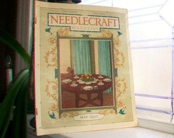 1922 Needlecraft Magazine May Issue with Large Cream Of Wheat Ad Vintage 1920s Sewing
