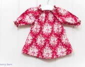 Floral Peasant Dress: Baby Girl, - Photo Shoot, Party - Tilda Cotton - Ready to Ship 0-3 months, handmade, vintage style print