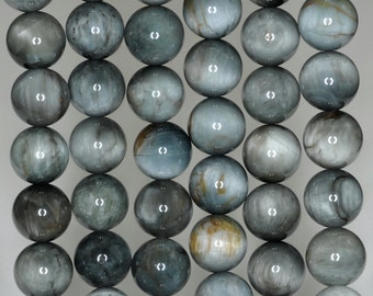 12mm Chrysoberyl Cat Eye Gemstone Light Grade A Round 12mm Loose Beads 7 inch Half Strand (90189693-B54)