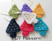 Christmas Ornament Pattern PDF Beaded Tree Knitting Pattern Quick Pattern