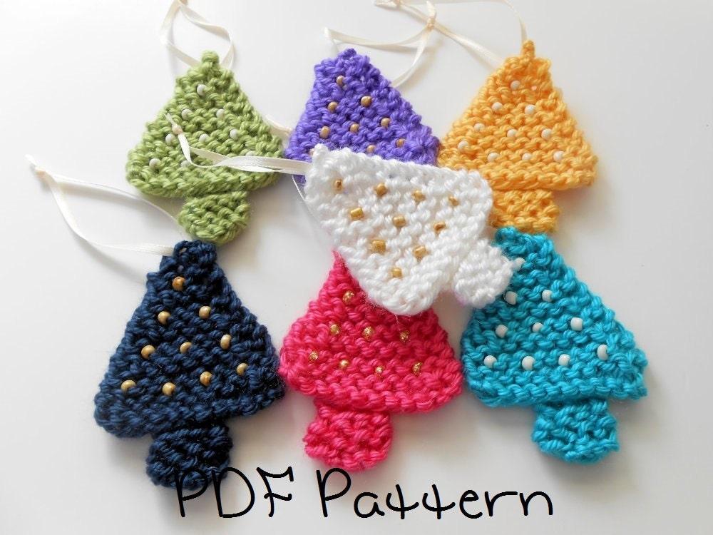 Alan Dart Toy Knitting Patterns : Christmas Ornament Pattern PDF Beaded Tree Knitting Pattern