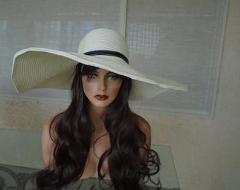 Cream sun sun hat
