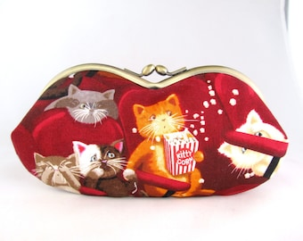 Cat Lover Gift - Soft Eyeglass Case - Eye Glass Case - Sunglasses Case - Cute Glasses Case - Sunglass Case - Glasses Case Kiss Lock