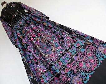 SALE :)))) PRINCESS OF Byzantia . S . Bohemian Beauty Ethnic Folk Print Maxi Dress Prettiest Arabesque Ornament