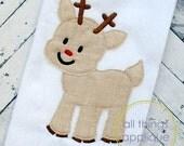 Baby Reindeer Applique Design - BEAN Stitch (#804) - Christmas Applique Designs - 4 Sizes - INSTANT DOWNLOAD