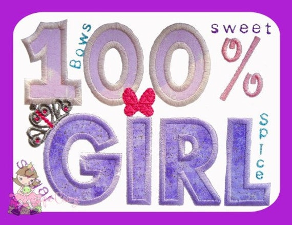 100% Girl Applique design