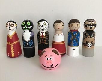 Book of Life themed peg doll set