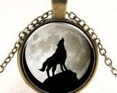 1pc Antique Bronze Photo Glass Cabochon Necklace Cameo Necklace 25mm