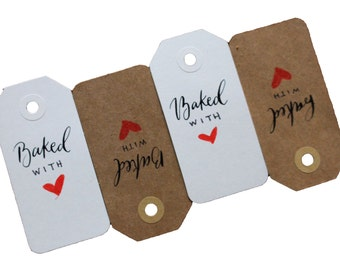 Baked with Love Tags (packs of 6)