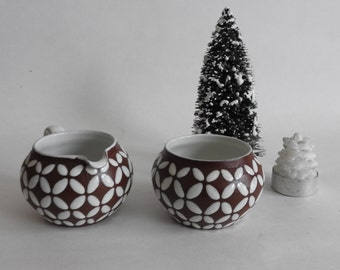 Mid Century Modern Joska Cream and Sugar Bowl- Danish Pottery